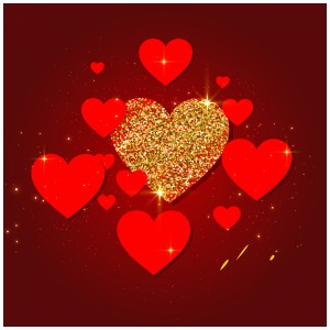 لایه باز کارت پستال عاشقانه قلبی