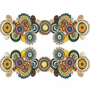 لایه باز گل های اسلیمی طراحی شده با دست