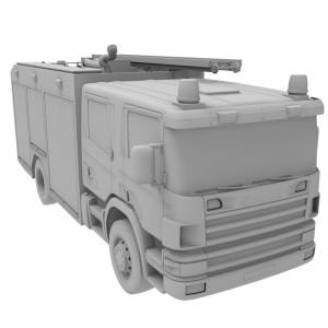 مدل سه بعدی ماشین آتش نشانی