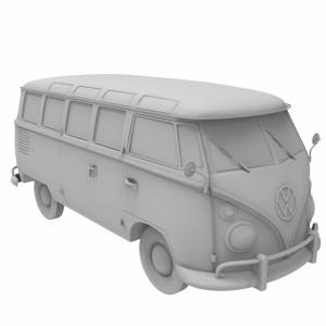 مدل سه بعدی ماشین فولکس واگن 1950 استیشن