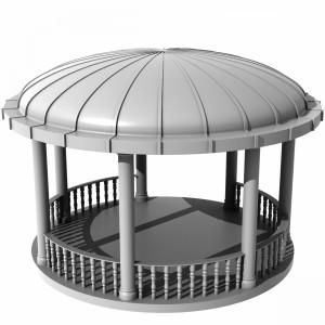مدل سه بعدی آلاچیق باغی