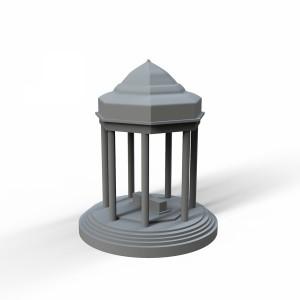 مدل سه بعدی آرامگاه حافظ