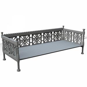 مدل سه بعدی تخت سنتی چوبی