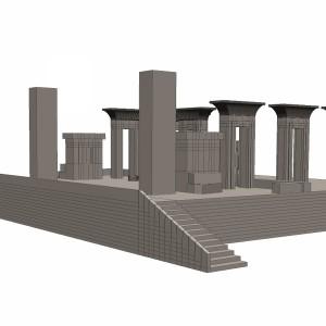 مدل سه بعدی تخت جمشید شیراز