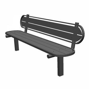 مدل سه بعدی صندلی پارکی چوبی و فلزی