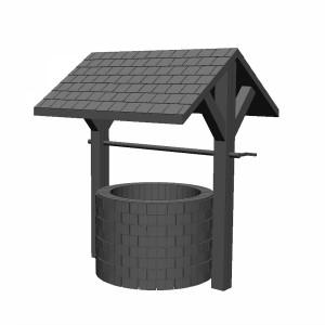 مدل سه بعدی چاه آب