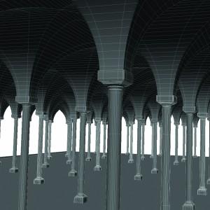 مدل سه بعدی سالن قصر قدیمی