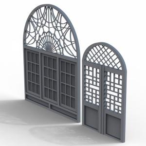 مدل سه بعدی در و پنجره قدیمی