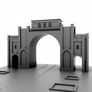 مدل سه بعدی دروازه قرآن شیراز